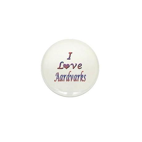I Love Aardvarks Mini Button (100 pack)