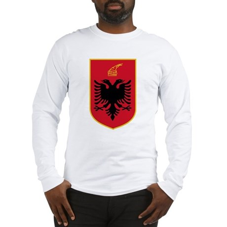 Albania Coat of Arms Emblem (Front) Long Sleeve T-