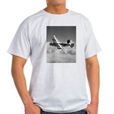 B-24 Shines Ash Grey T-Shirt
