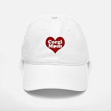 Corgi Mom Red Heart Baseball Baseball Cap