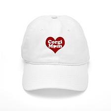 Corgi Mom Red Heart Baseball Cap