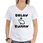 Belay Bunny Women's V-Neck T-Shirt