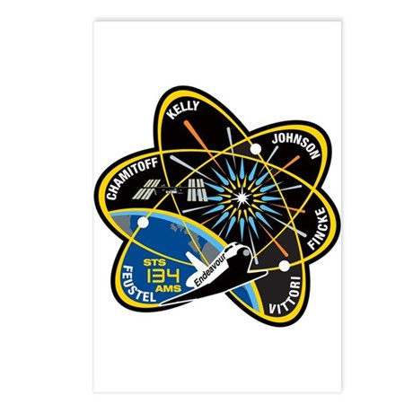 STS 134 Endeavour Postcards (Package of 8)