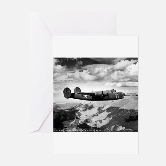 B-24 Flying High Greeting Cards (Pk of 10)