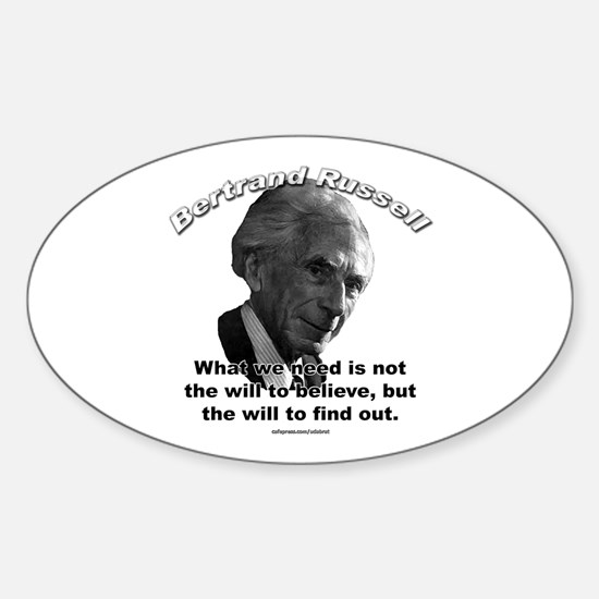 Bertrand Russell 02 Oval Decal