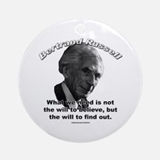 Bertrand Russell 02 Ornament (Round)