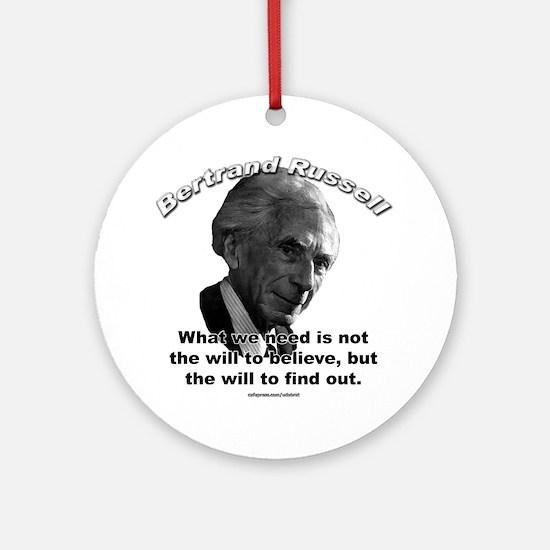 Bertrand Russell 02 Ornament (Round)