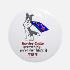 Super Border Collie blue merle Ornament (Round)