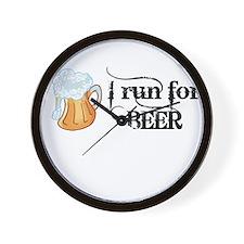 I run for Beer Wall Clock