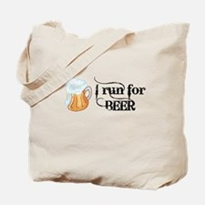 I run for Beer Tote Bag