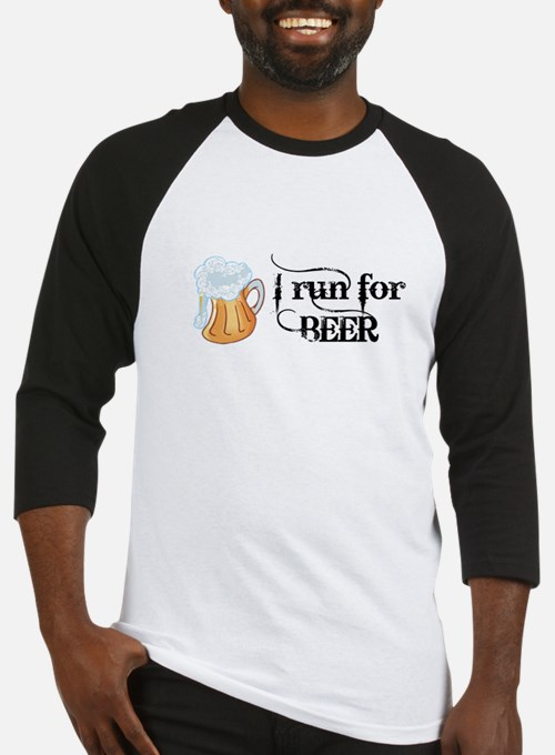 I run for Beer Baseball Jersey