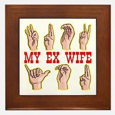 Sign Language For Ex Wife Framed Tile
