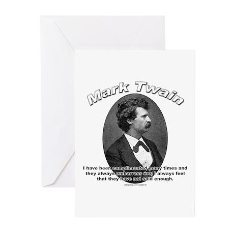 Mark Twain 01 Greeting Cards (Pk of 10)