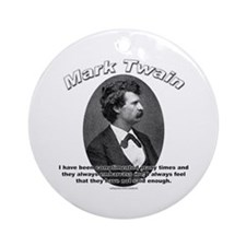 Mark Twain 01 Ornament (Round)