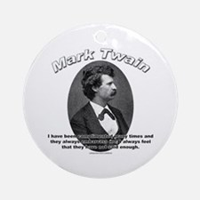 Mark Twain 01 Ornament (Round)