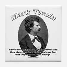 Mark Twain 01 Tile Coaster
