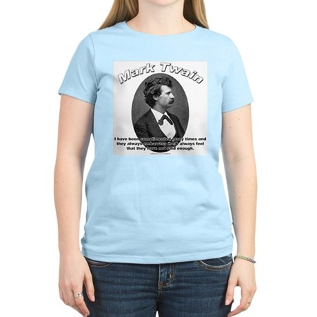 Mark Twain 01 Women's Pink T-Shirt