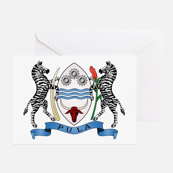 Botswana Coat of Arms Greeting Card