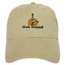 Oak Island NC - Lighthouse Design Baseball Cap