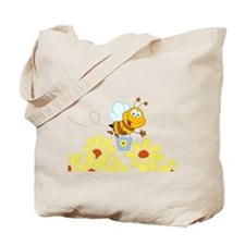 Cartoon Honey Bee Tote Bag