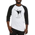 The Bad Black Dog Tshirt art copy Baseball Jersey