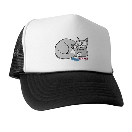 Gray/White ASL Kitty Trucker Hat