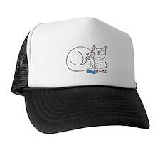 White ASL Kitty Trucker Hat