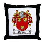 Parsons Family Crest Throw Pillow