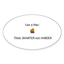 Mac - Smarter not Harder Decal