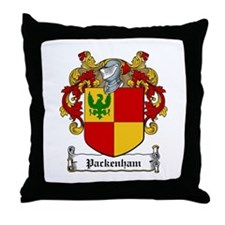 Packenham Family Crest Throw Pillow