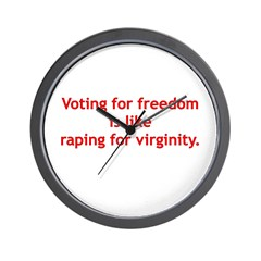 Voting for freedom Wall Clock