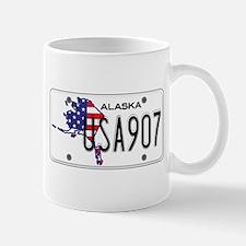 AK USA License Plate Mug