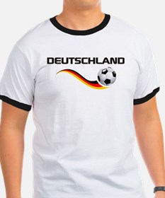 Soccer DEUTSCHLAND with back print T