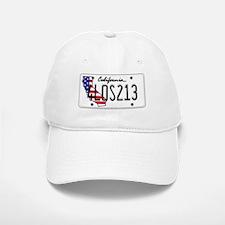 CA USA License Plate Baseball Baseball Cap