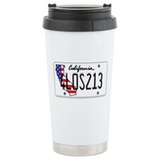 CA USA License Plate Travel Mug