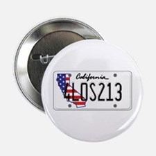 "CA USA License Plate 2.25"" Button"