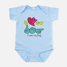 I-L-Y My Dog Infant Bodysuit