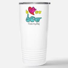 I-L-Y My Dog Travel Mug