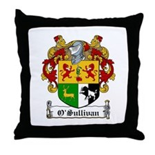 O'Sullivan Family Crest Throw Pillow
