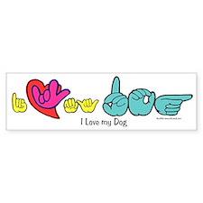 I-L-Y My Dog Bumper Sticker