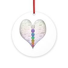 Chakra Hearts Ornament (Round)