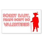 Valentine's Pimp Rectangle Sticker