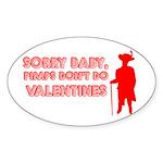 Valentine's Pimp Oval Sticker