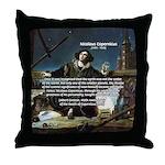 Nicolaus Copernicus Cosmos Throw Pillow