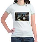 Nicolaus Copernicus Cosmos Jr. Ringer T-Shirt