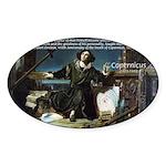 Nicolaus Copernicus Cosmos Oval Sticker