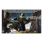 Nicolaus Copernicus Cosmos Rectangle Sticker