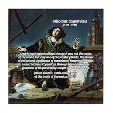 Nicolaus Copernicus Cosmos Tile Coaster
