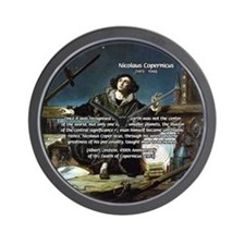 Nicolaus Copernicus Cosmos Wall Clock