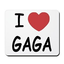 I heart gaga Mousepad